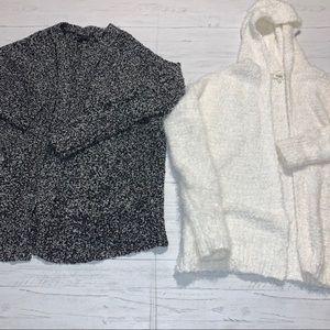 AMERICAN EAGLE &  MUDD sweater lot XS cozy FUZZY C
